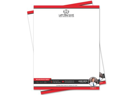 Lawyer Letterheads, Law Firm Letterheads, Attorney Letterheads, Law Office Letterheads, Lawyer Letterhead Templates, Lawyer Letterhead Printing