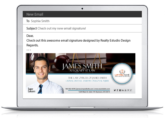 Lawyer Email Signatures, Law Firm Email Signatures, Attorney Email Signatures, Legal Email Signatures, Law Office Email Signatures