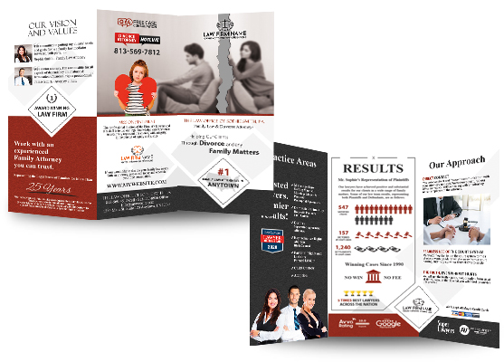 Law Firm Brochures, Lawyer Brochures, Attorney Brochures, Legal Brochures, Law Office Brochures, Lawyer Brochure Templates, Lawyer Brochure Printing