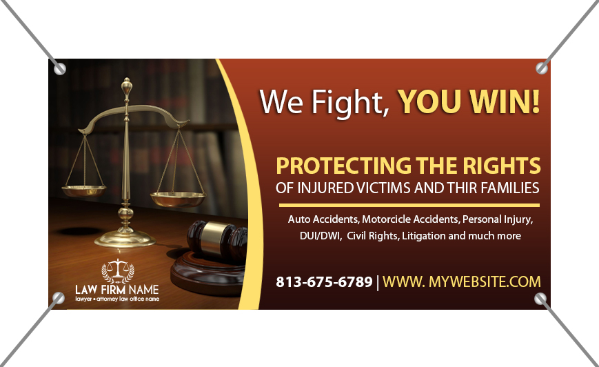 Law Firm Banners | Lawyer Banners, Attorney Banners, Legal Banners, Law Firm Banner Printing, Legal Banner Printing, Lawyer Banner Printing