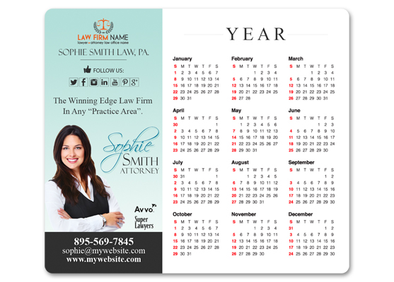 Lawyer Calendar Magnets, Law Firm Calendar Magnets, Attorney Calendar Magnets, Legal Calendar Magnets, Lawyer Calendar Magnet Templates