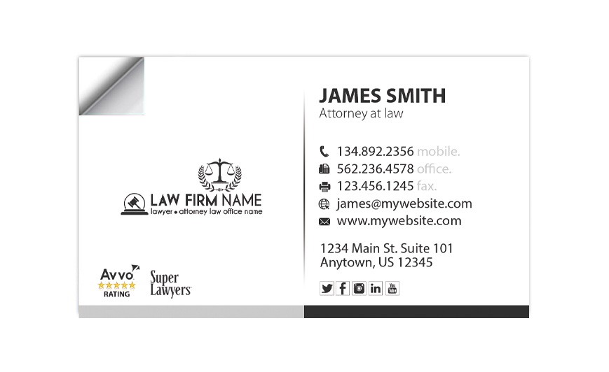 Lawyer Business Card Stickers | Law Firm Business Card Stickers, Attorney Business Card Stickers, Legal Business Card Stickers